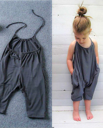 Baby Boutique Harem Charcoal Playsuit