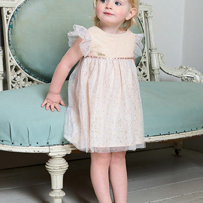 Disney Boutique BabyTinker Bell Sparkle dress with dipped hem and bloomers