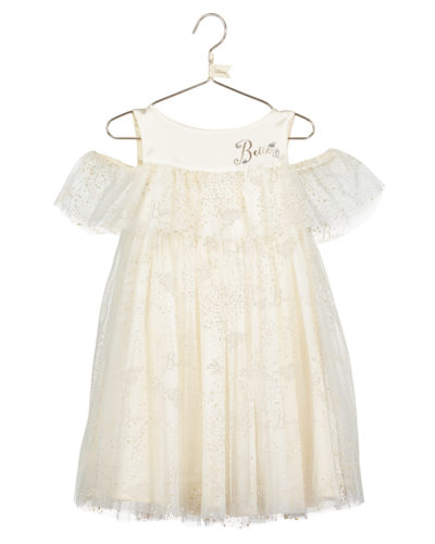 Disney Boutique Belle Soft net tulle dress with gold foil