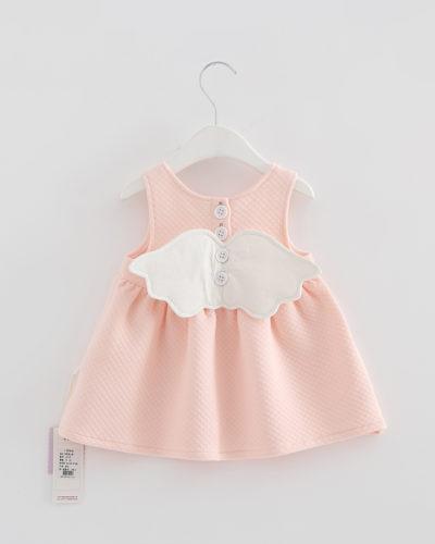 Itty Bitty Baby Pink Angel Wings Dress