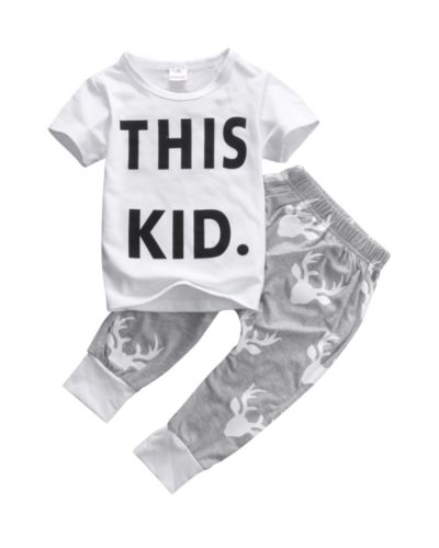 Itty Bitty 'This Kid' T-shirt and Pant Set (1-5 years)
