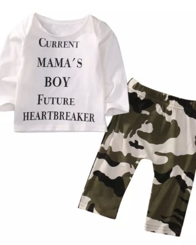 Itty Bitty Current Mama's Boy Top and Pant Set (3-24 Months)