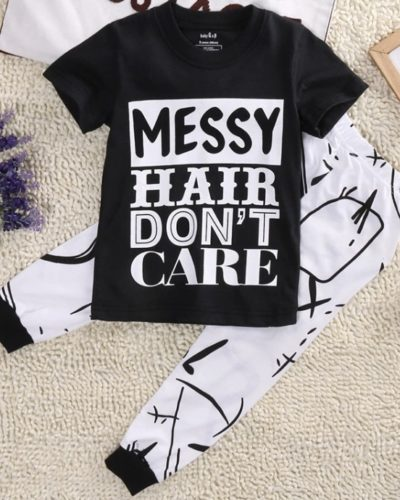 Itty Bitty Messy Hair Top and Pant Set (1-6 years)
