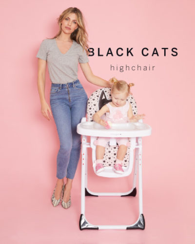 Abbey Clancy Catwalk Collection Black Cats Premium Highchair