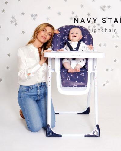 Abbey Clancy Catwalk Collection Navy Stars Premium Highchair