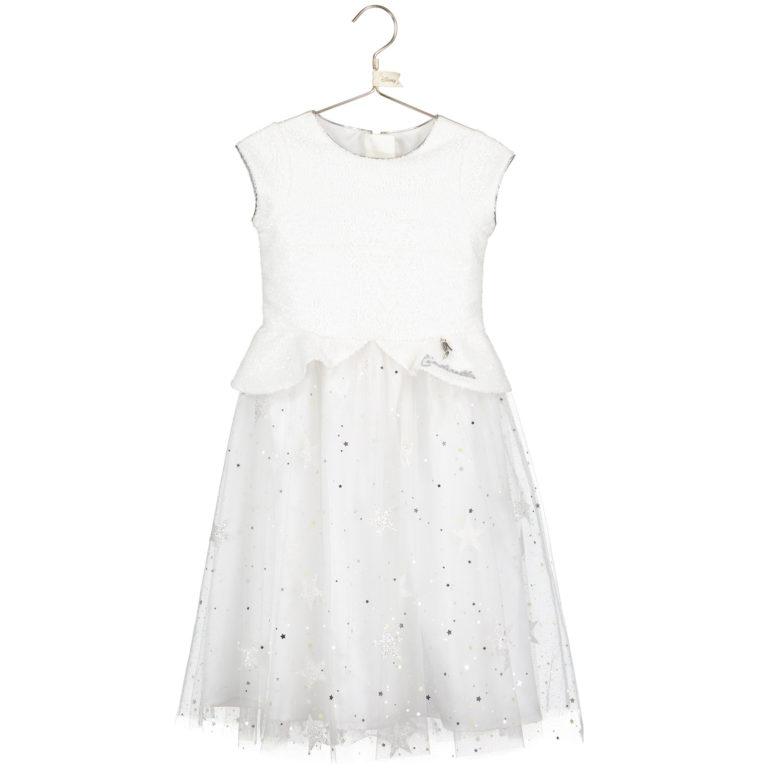 Disney Boutique Cinderella White sequin & glitter star dress