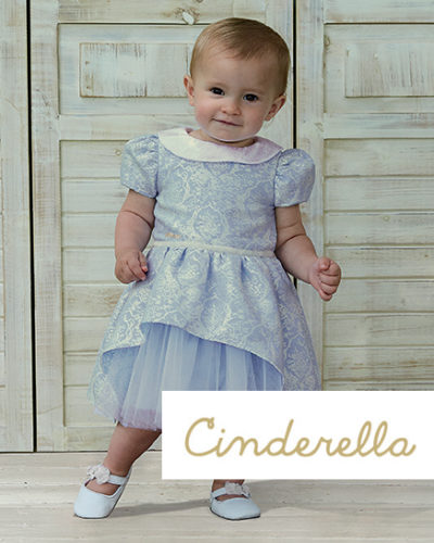Disney Boutique Baby Cinderella Jaquard Tulle Dress with bloomers