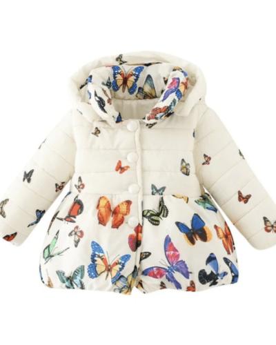 Itty Bitty Butterfly Print Coat