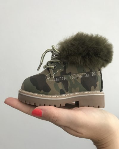 Itty Bitty Camouflage Winter fur boots