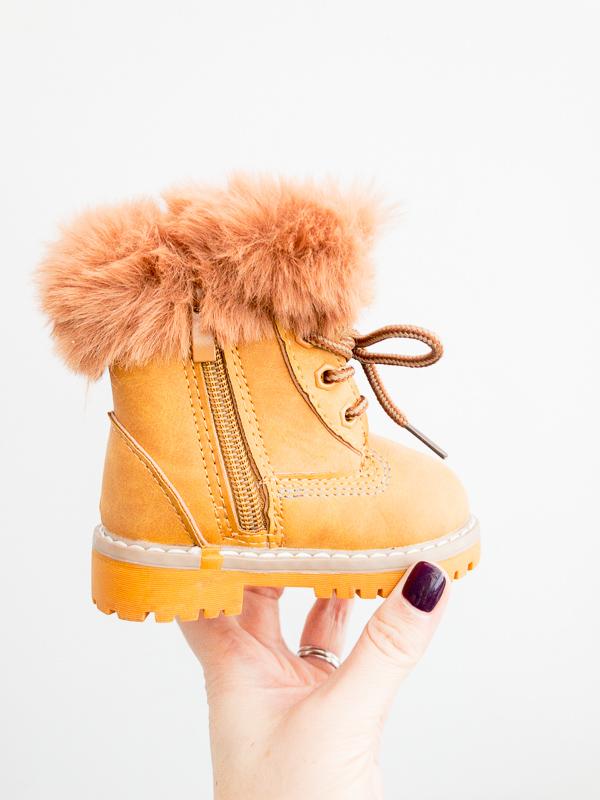 Itty Bitty Fur Lumberjack Leader Boys Boots