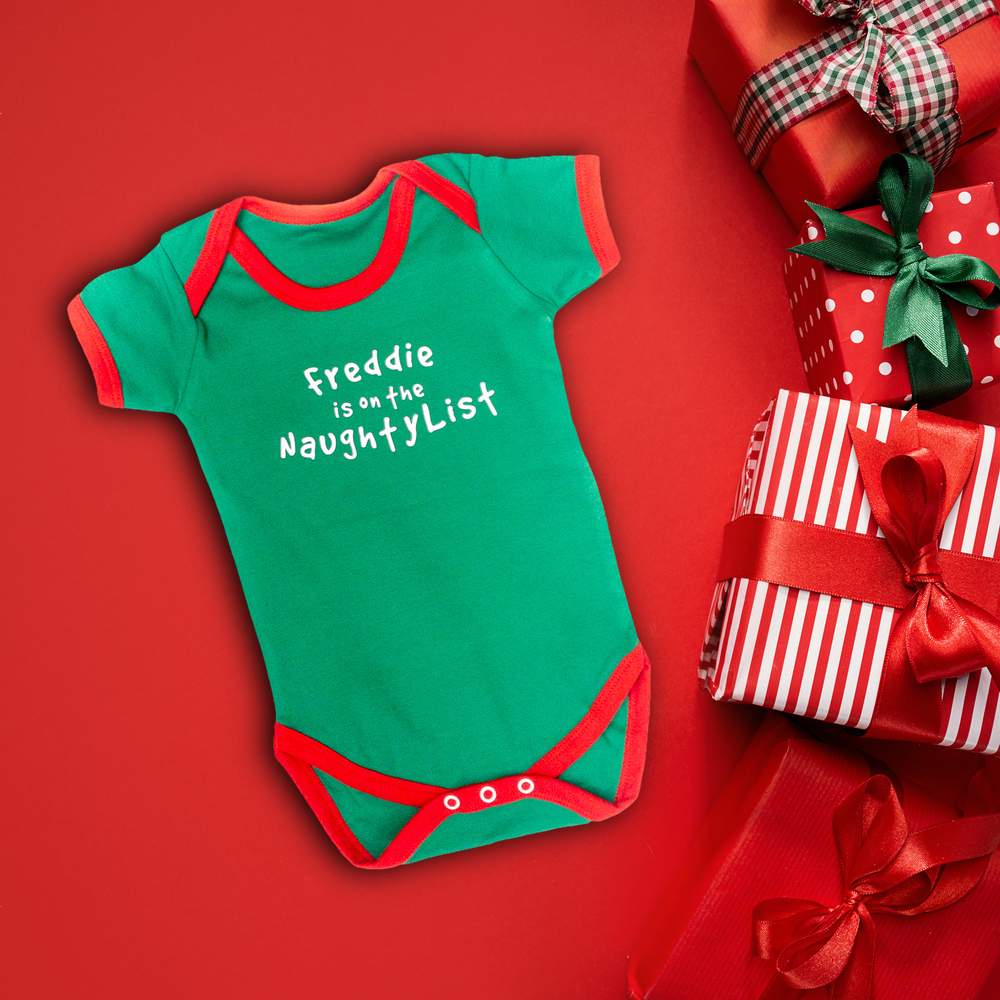 5ca30bb356d9 Itty Bitty Personalised Christmas Elf Baby Grow – Baby Boutique Clothing