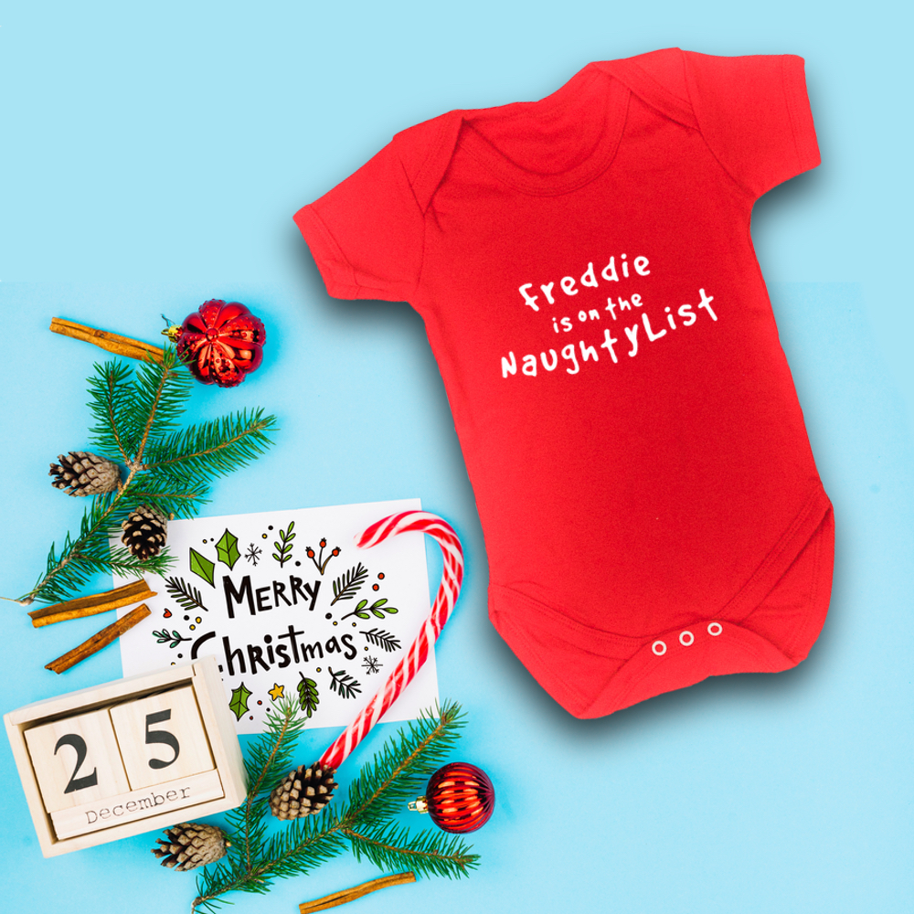 bd8eba22bfd3 Itty Bitty Personalised Christmas Baby Grow – Baby Boutique Clothing