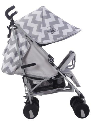 Billie Faiers MB22 Grey Chevron Twin Stroller