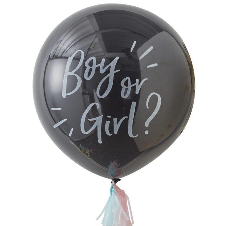 Baby Shower Boy or Girl Gender reveal balloon kit
