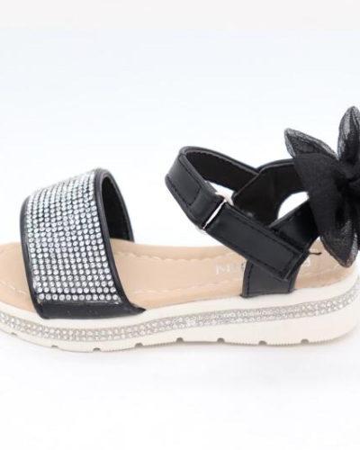 Darcie Diamante Black Bow Sandals
