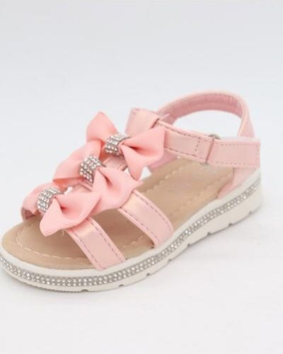Mia Diamante 3 Pink Bow Sandals