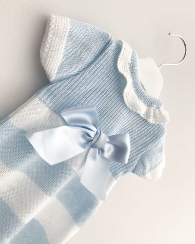 Itty Bitty Stripe Bow Knitted Romper