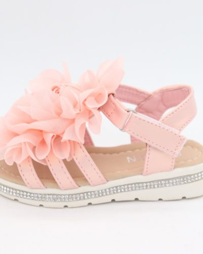Dee Diamante Pink Ruffle Sandals