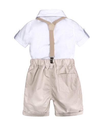 Itty Bitty Babies Boys Gentlemen Bow Tie T-Shirt + Shorts Set