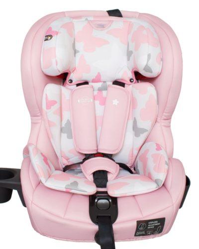 Katie Piper Pink Butterflies Isofix Car Seat