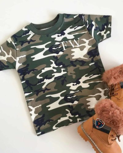 Itty Bitty Personalised Camouflage T Shirt