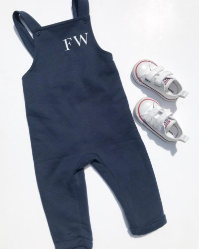 Itty Bitty Navy Personalised Dungarees