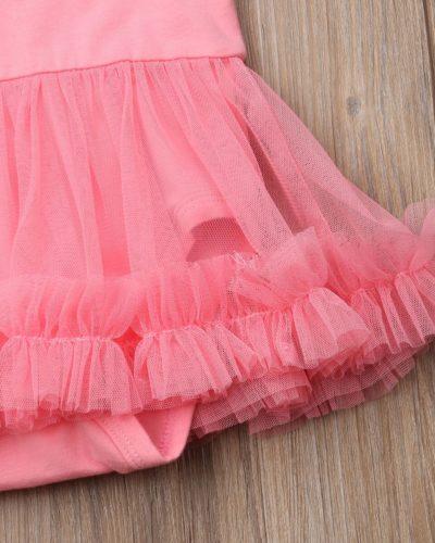Daddys Girl Print Short Sleeve Tulle Mesh Bodysuit