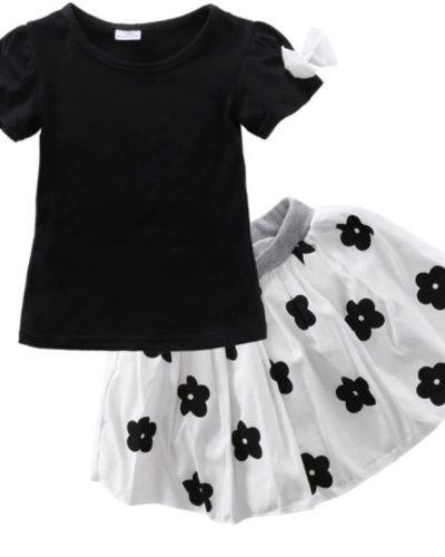 Itty Bitty Mono Skirt and Top Set