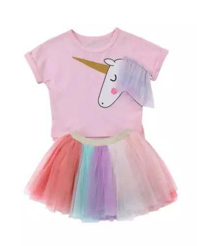 Itty Bitty Unicorn Tutu Skirt and Top Set