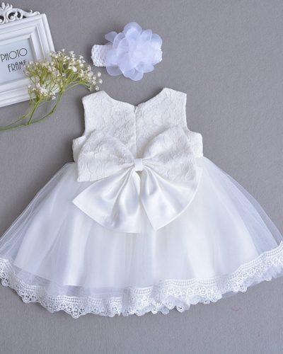 White Princess Bow Dress