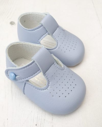 Itty Bitty First Blue T Bar Soft Sole Shoes