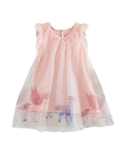 Itty Bitty Magic Unicorn Pink Princess Dress
