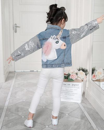 Itty Bitty Unicorn Sparkle Denim Jacket