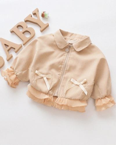 Itty Bitty Autumn Bow Baby Girls Jacket