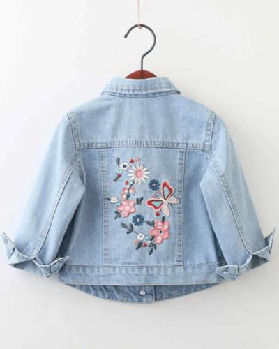 Itty Bitty Butterfly Denim Jacket