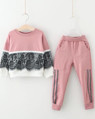 Itty Bitty Ebony Pink Cozy Tracksuit