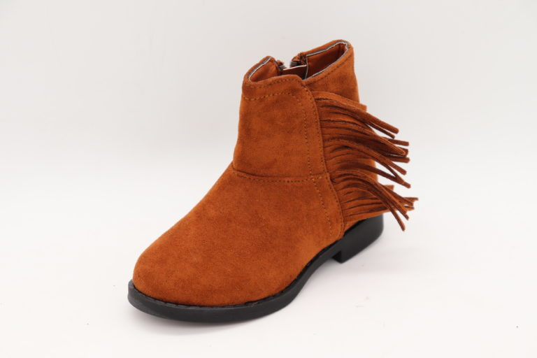 Itty Bitty Gingerbread Suede Tassel Cowboy Boots