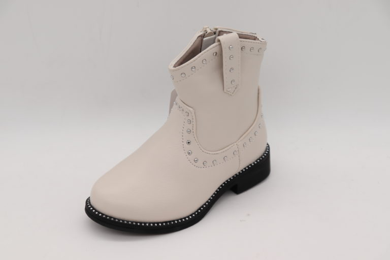 Itty Bitty Limited Edition White Studded Cowboy Boots