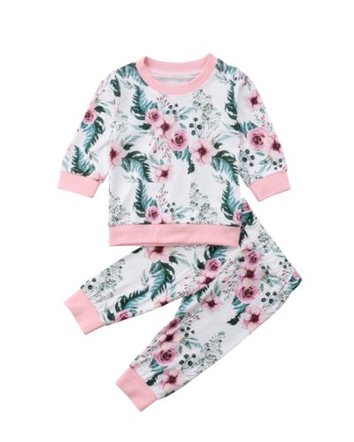Itty Bitty Pink & White Floral Tracksuit