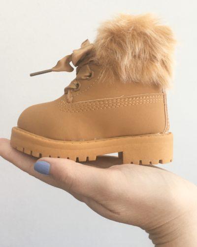 Itty Bitty Camel Winter fur boot
