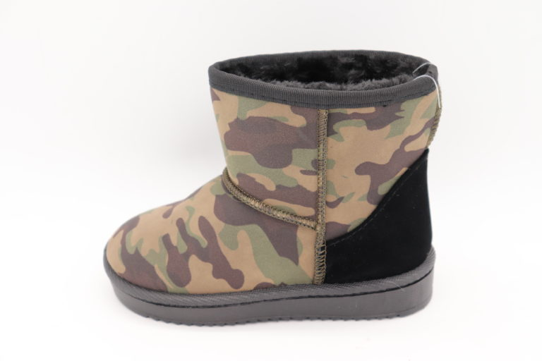 Itty Bitty Green Camouflage Snuggle Boots
