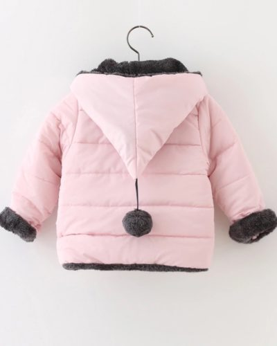 Itty Bitty Pink Bow Detail Coat