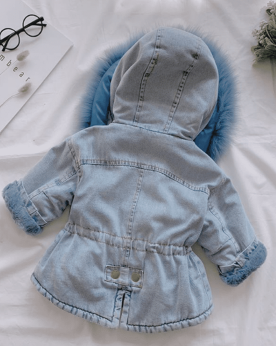 Itty Bitty Blue Denim Super Snuggle Winter Fashion Coat