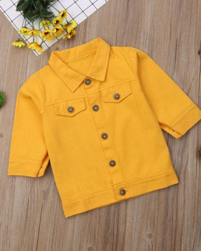 Itty Bitty Yellow Denim Jacket