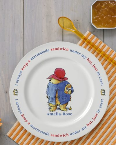 Paddington Bear Marmalade Sandwich 8 Rimmed Plate