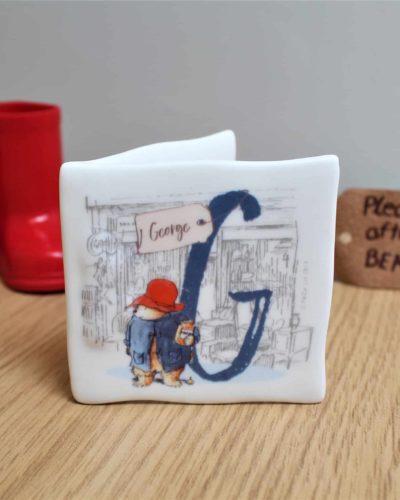 Paddington Bear Initial Message Card