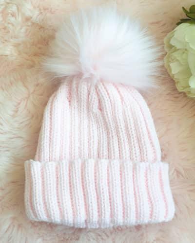 Itty Bitty Princess Pink Pom Pom Beanie Hat