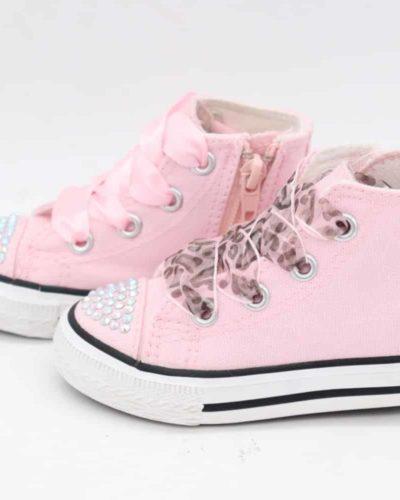Itty Bitty Pink Fashion DiamanteHi Tops