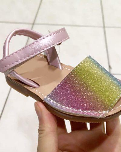 Itty Bitty Rainbow Sparkle Sandals