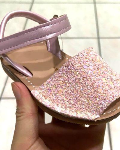 Itty Bitty Pink Sparkle Sandals